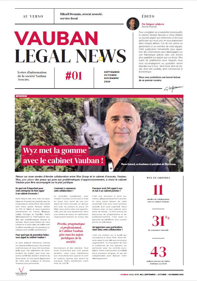 VAUBAN legal news N°1